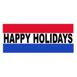 Happy Holidays 2.5' x 6' Vinyl Business Banner