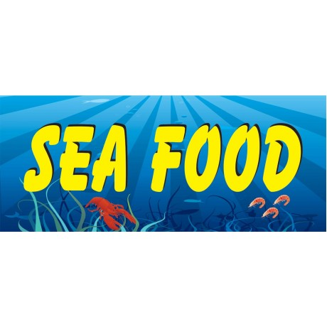 Seafood Simple 2.5' x 6' Vinyl Business Banner
