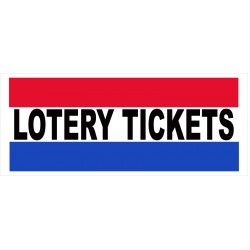 Lottery Tickets 2.5' x 6' Vinyl Business Banner