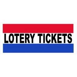 Lottery Tickets 2.5' x 6' Vinyl Business Banner