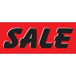 Sale Red & Black 2.5' x 6' Vinyl Business Banner