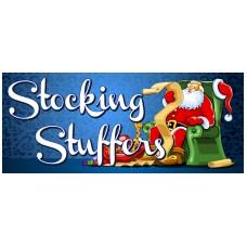 Stocking Stuffers 2.5' x 6' Vinyl Business Banner
