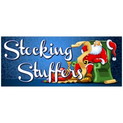 Stocking Stuffers 2.5' x 6' Vinyl Business Banner