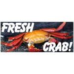 Fresh Crab 2.5' x 6' Vinyl Business Banner