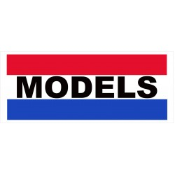 Models 2.5' x 6' Vinyl Business Banner