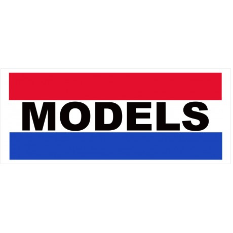 Models 2.5' x 6' Vinyl Business Banner