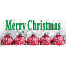 Merry Christmas 2.5' x 6' Vinyl Banner