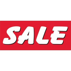 Sale Red & White 2.5' x 6' Vinyl Business Banner