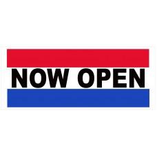 Now Open 2.5' x 6' Vinyl Business Banner