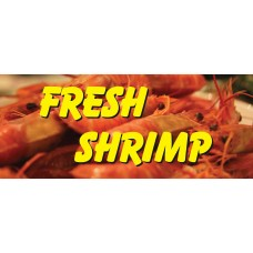 Fresh Shrimp Yellow 2.5' x 6' Vinyl Business Banner