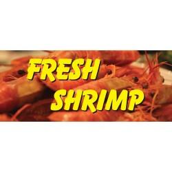 Fresh Shrimp Yellow 2.5' x 6' Vinyl Business Banner