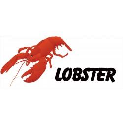 Lobster White 2.5' x 6' Vinyl Business Banner