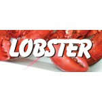 Lobster 2.5' x 6' Vinyl Business Banner