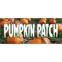 Pumpkin Patch 2.5' x 6' Vinyl Business Banner