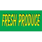 Fresh Produce Green 2.5' x 6' Vinyl Banner