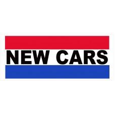 New Cars 2.5' x 6' Vinyl Business Banner