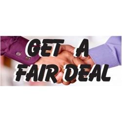 Get A Fair Deal 2.5' x 6' Vinyl Business Banner