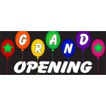 Grand Opening Balloons 2.5' x 6' Vinyl Business Banner