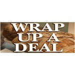 Wrap Up A Deal Halloween 2.5' x 6' Vinyl Business Banner