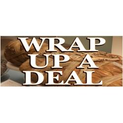 Wrap Up A Deal Halloween 2.5' x 6' Vinyl Business Banner
