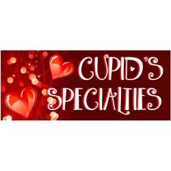 Valentine Cupid's Specialties 2.5' x 6' Vinyl Business Banner