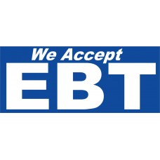 We Accept EBT 2.5' x 6' Vinyl Business Banner