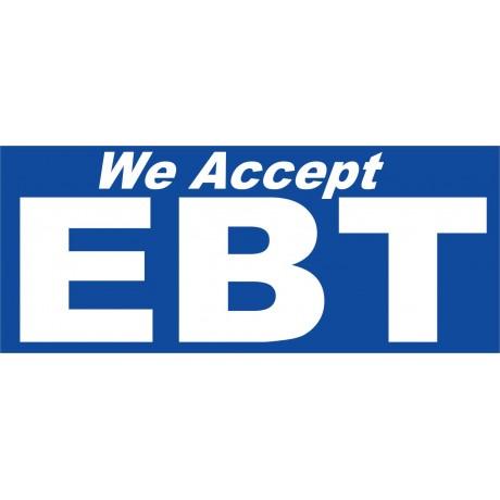 We Accept EBT 2.5' x 6' Vinyl Business Banner