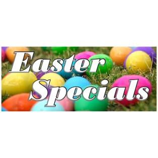 Easter Specials 2.5' x 6' Vinyl Business Banner