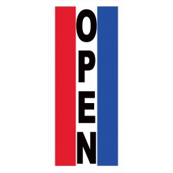 Open Vertical 2.5' x 6' Vinyl Business Banner