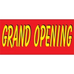 Grand Opening Red & Yellow 2.5' x 6' Vinyl Business Banner