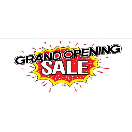 Grand Opening Sale Explosion 2.5' x 6' Vinyl Business Banner