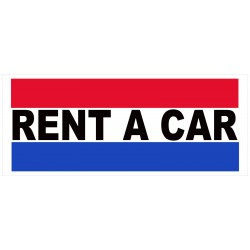 Rent A Car 2.5' x 6' Vinyl Business Banner