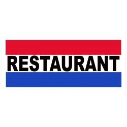 Restaurant 2.5' x 6' Vinyl Business Banner