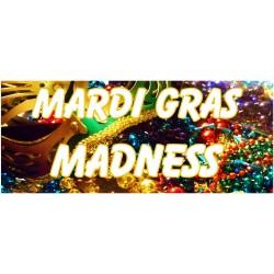 Mardi Gras Madness 2.5' x 6' Vinyl Business Banner