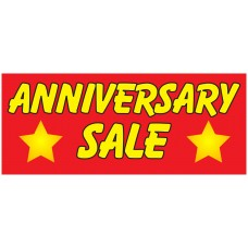 Anniversary Sale 2.5' x 6' Vinyl Business Banner