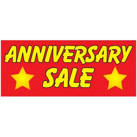 Anniversary Sale 2.5' x 6' Vinyl Business Banner