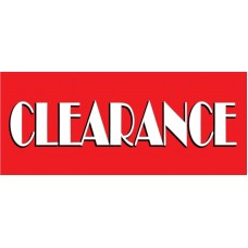 Clearance Sale Red 2.5' x 6' Vinyl Business Banner