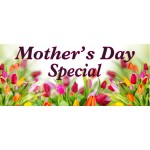Mother's Day Specials Pink 2.5' x 6' Vinyl Business Banner