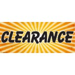 Yellow Clearance 2.5' x 6' VInyl Business Banner