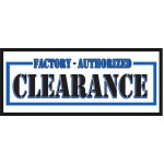 Factory Authorized Clearance 2.5' x 6' Vinyl Business Banner
