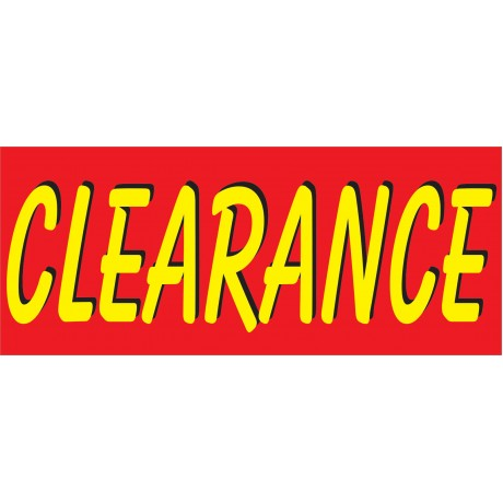 Clearance Red & Yellow 2.5' x 6' Vinyl Business Banner