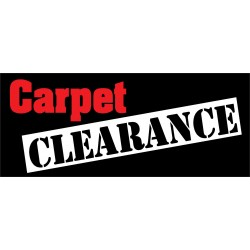 Carpet Clearance 2.5' x 6' Vinyl Business Banner