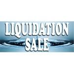 Liquidation Sale Blue 2.5' x 6' Vinyl Business Banner
