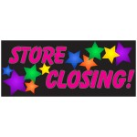 Store Closing Stars 2.5' x 6' Vinyl Business Banner
