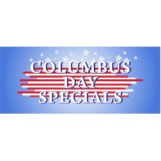 Columbus Day Specials 2.5' x 6' Vinyl Business Banner