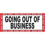 Green Going Out Of Business Sale 2.5' x 6' Vinyl Business Banner