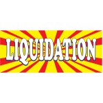 Liquidation Burst 2.5' x 6' Vinyl Business Banner