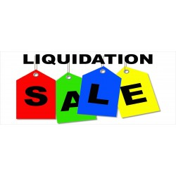 Liquidation Sale 2.5' x 6' Vinyl Business Banner