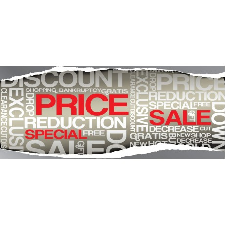 Price Reduction Sale 2.5' x 6' Vinyl Business Banner