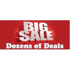 Big Sale Dozens Of Deals 2.5' x 6' Vinyl Business Banner